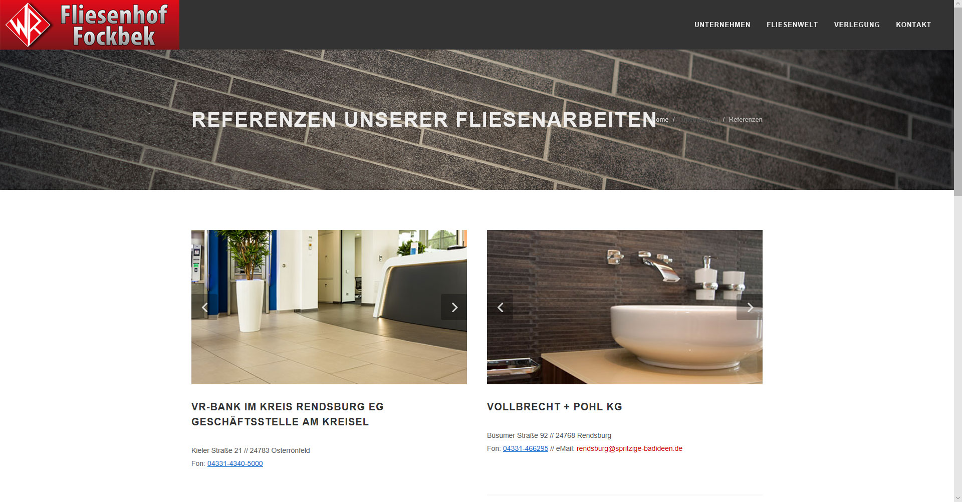 Referenzprojekte unserer Fliesenarbeiten - Fliesenhof Fockbek